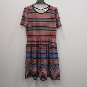 Lularoe Plus Size Dress 3X Multi-Color